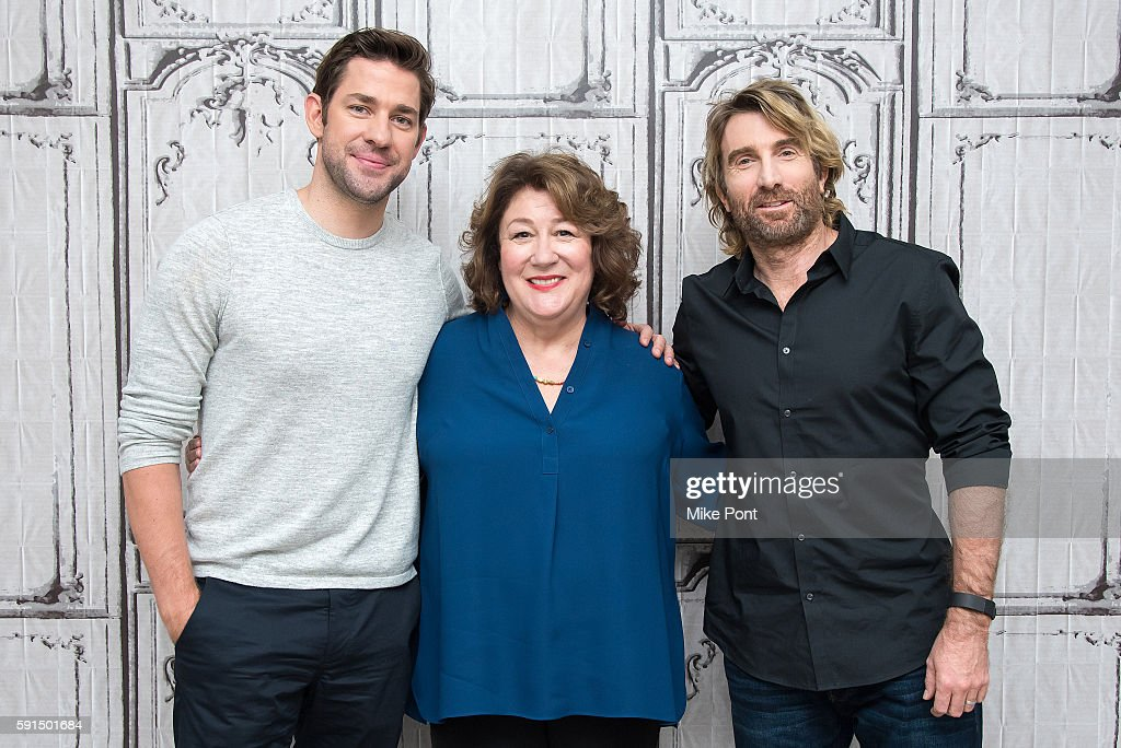 John Krasinski Margo Martindale and Sharlto Copley attend the AOL Build Speaker Series to discuss 'The Hollars' at AOL HQ on August 17 2016 in New...