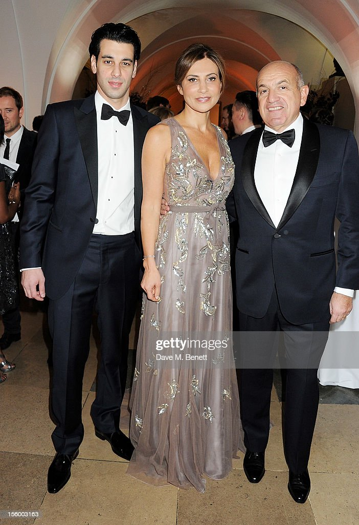 John Krasner, Ella Krasner and Alex Krasner attend the Place For Peace dinner co-hosted by Ella Krasner and Forest Whitaker to support the Peace Earth Foundation in association with Star Diamond at Banqueting House on November 10, 2012 in London, England.