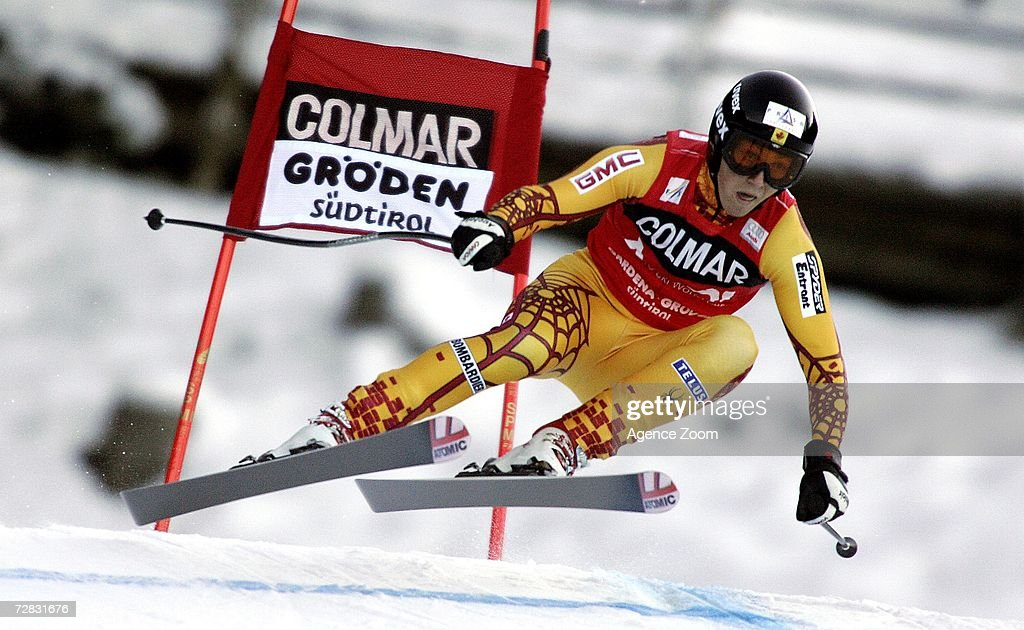 John Kucera of Canada competes in the FIS Skiing World Cup Men's Super-G on December 15, 2006 in Val Gardena, Italy.