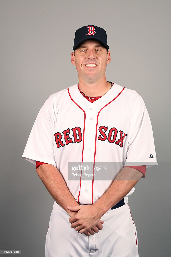 John Lackey #41 of the Boston Red Sox poses during Photo Day on February 17, 2013 at JetBlue Park in Fort Myers, Florida.