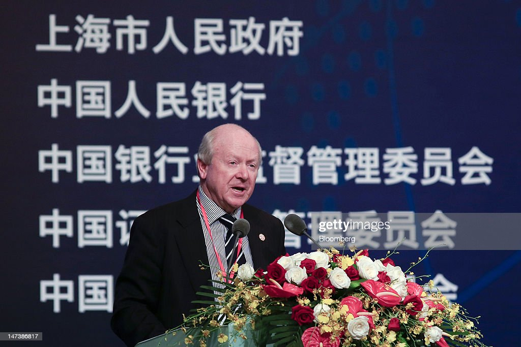 John Laker, chairman of the Australian Prudential Regulation Authority, speaks at the Lujiazui Forum in Shanghai, China, on Friday, June 29, 2012. The Lujiazui Forum is co-hosted by the Shanghai Municipal Government, the People's Bank of China, the China Banking Regulatory Commission (CBRC), the China Securities Regulatory Commission (CSRC) and the China Insurance Regulatory Commission (CIRC). Photographer: Nelson Ching/Bloomberg via Getty Images