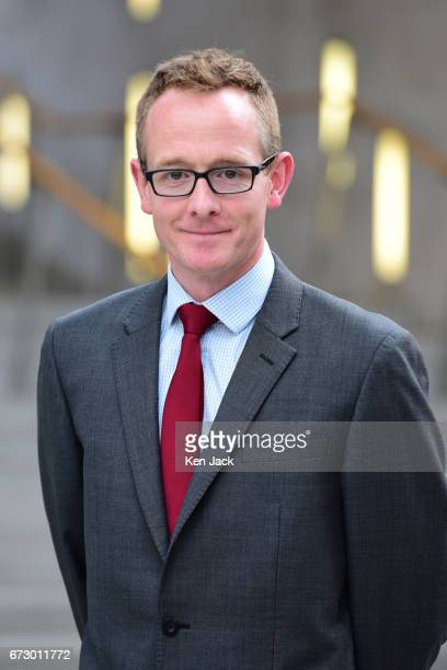 John Lamont MSP Scottish Conservative chief whip and business manager poses on April 25 2017 in Edinburgh Scotland Lamont has announced he is...