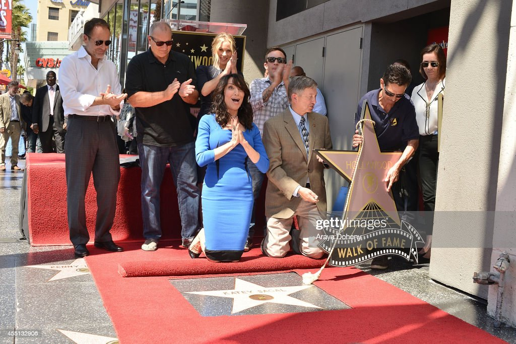 John Landgraf Ed O'Neill Christina Applegate Katey Sagal David Faustino and Leron Gubler attend the ceremony honoring Katey Sagal with a Star on The...