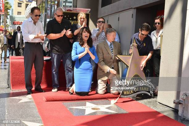 John Landgraf Ed O'Neill Christina Applegate Katey Sagal David Faustino and Leron Gubler attend the ceremony honoring Katey Sagal with a Star on The...
