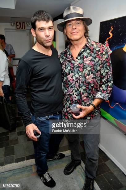 John Lankenau and Peter Christian Hall attend Opening Reception for MARK DeMAIO's 'Absurd Notions' at Synchronicity Space on September 8th 2010 in...