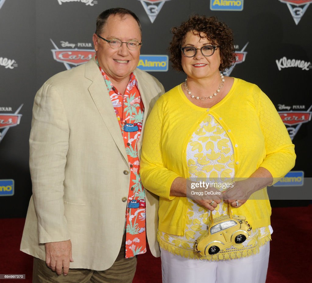 John Lasseter and Nancy Lasseter arrive at the premiere of Disney And Pixar's 'Cars 3' at Anaheim Convention Center on June 10, 2017 in Anaheim, California.
