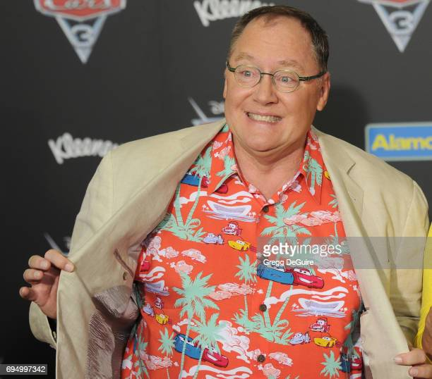 John Lasseter arrives at the premiere of Disney And Pixar's 'Cars 3' at Anaheim Convention Center on June 10 2017 in Anaheim California