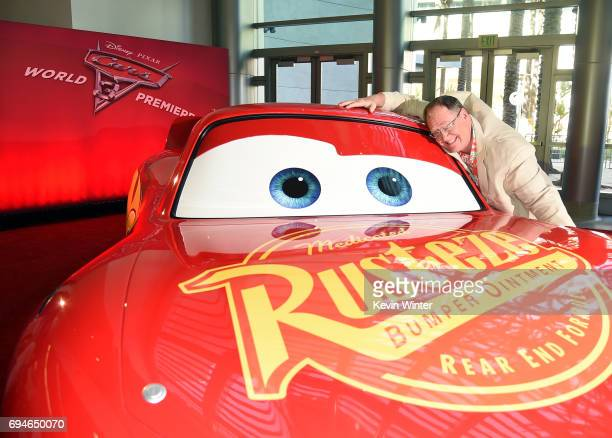 John Lasseter Chief Creative Officer of Pixar attends the premiere of Disney and Pixar's 'Cars 3' at Anaheim Convention Center on June 10 2017 in...