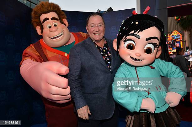 John Lasseter Chief Creative Officer Walt Disney and Pixar Animation Studios arrives at Walt Disney Animation Studios' 'WreckIt Ralph' premiere at...