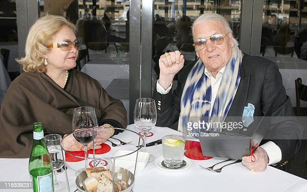 John Laws and wife Caroline during Variety Wharfies Lunch June 27 2007 at Woolloomooloo Finger Wharf in Sydney NSW Australia