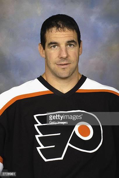 John LeClair of the Philadelphia Flyers poses for a portrait on September 15 2003 at First Union Center in Philadelphia Pennsylvania