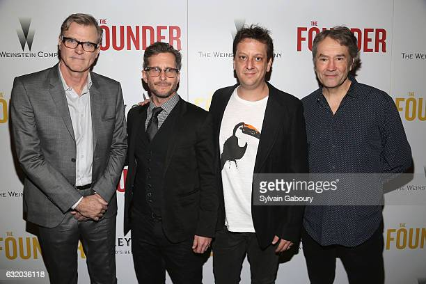 John Lee Hancock Aaron Ryder Robert Siegel and Carter Burwell attend The Weinstein Company with Grey Goose Host a Screening of 'The Founder' on...