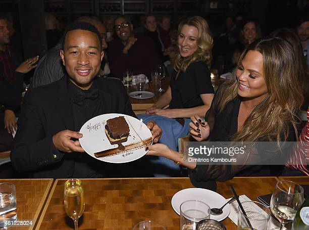 John Legend and Chrissy Teigen attend John Legend Celebrates His Birthday And The 10th Anniversary Of His Debut Album 'Get Lifted' At CATCH NYCat...