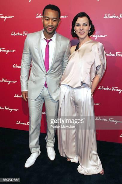 John Legend and Debi Mazar attend Debi Mazar and Adrian Grenier Host Salvatore Ferragamos Benefit for LAUILA EARTHQUAKE Victims at Salvatore...