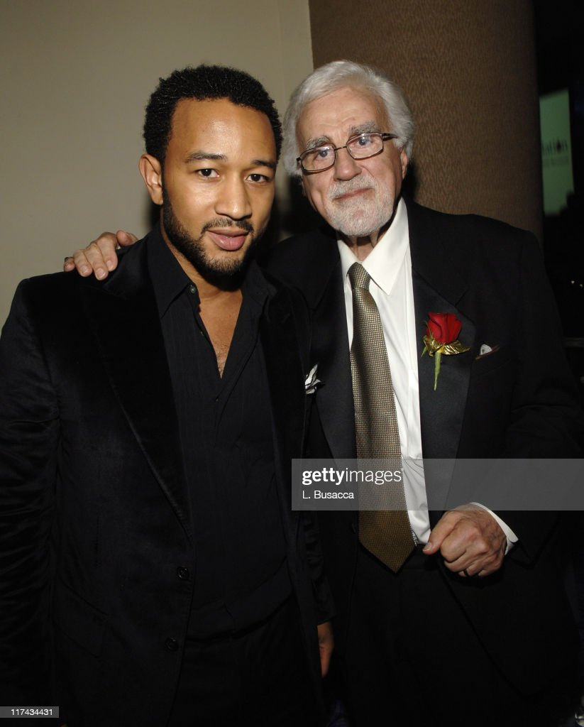 John Legend and Tony Martell, Chairman and Founder of the T.J. Martell Foundation, at the T.J. Martell Foundation's 31st Annual Awards Gala at the Marriott Marquis in New York City **EXCLUSIVE