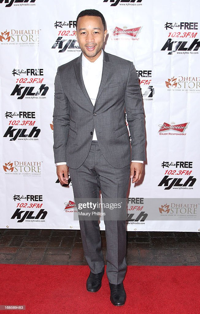 <a gi-track='captionPersonalityLinkClicked' href=/galleries/search?phrase=John+Legend&family=editorial&specificpeople=201468 ng-click='$event.stopPropagation()'>John Legend</a> arrives at Icon Stevie Wonder's 63rd Birthday Celebration at House of Music & Entertainment on May 11, 2013 in Beverly Hills, California.