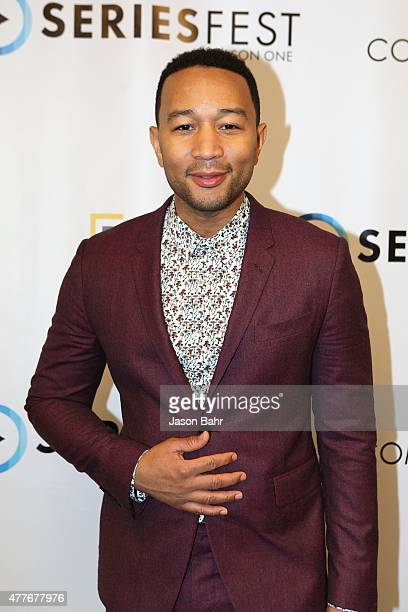 John Legend arrives prior to his performance during the opening night of SeriesFest at Red Rocks Amphitheatre on June 18 2015 in Morrison Colorado