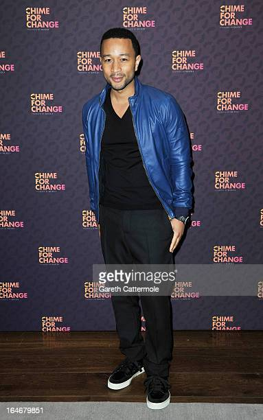 John Legend attends a press conference to announce 'The Sound Of Change Live' a global concert event at the Soho Hotel on March 26 2013 in London...