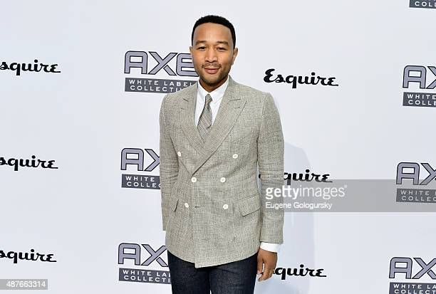 John Legend attends as AXE and Esquire present the AXE White Label Collective during the opening night of New York Fashion Week on September 10 2015...