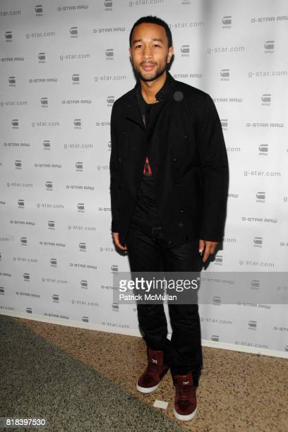 John Legend attends GSTAR RAW Presents NY RAW Fall/Winter 2010 Collection Arrivals at Hammerstein Ballroom on February 16 2010 in New York City