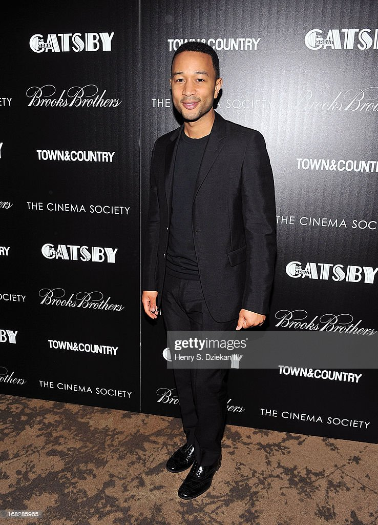 <a gi-track='captionPersonalityLinkClicked' href=/galleries/search?phrase=John+Legend&family=editorial&specificpeople=201468 ng-click='$event.stopPropagation()'>John Legend</a> attends the Brooks Brothers and Town & Country with The Cinema Society screening of 'The Great Gatsby' at HBO Screening Room on May 7, 2013 in New York City.