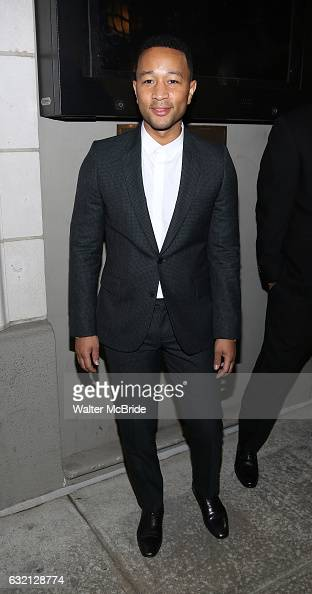 John Legend attends the Manhattan Theatre Club's Broadway debut of August Wilson's 'Jitney' at the Samuel J Friedman Theatre on January 19 2017 in...