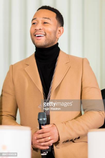 John Legend attends the press conference ahead of the Nobel Peace Prize Concert 2017 at the Norwegian Nobel Institute on December 11 2017 in Oslo...