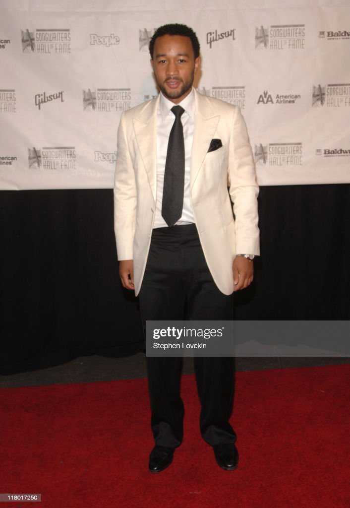 John Legend during 38th Annual Songwriters Hall of Fame Ceremony - Arrivals at Marriott Marquis in New York City, New York, United States.