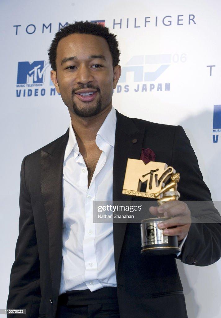 John Legend during MTV Video Music Awards Japan 2006 - Press Room at Yoyogi National Stadium in Tokyo, Japan.