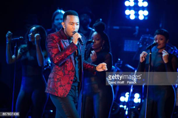 John Legend performs at AccorHotels Arena on October 4 2017 in Paris France