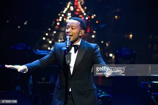John Legend performs during 2017 Time 100 Gala at Jazz at Lincoln Center on April 25 2017 in New York City