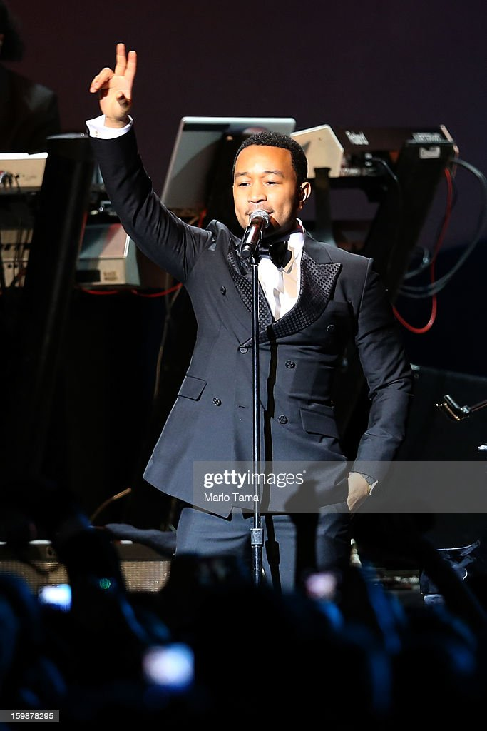 John Legend performs during the Public Inaugural Ball at the Walter E. Washington Convention Center on January 21, 2013 in Washington, DC. U.S. President Barack Obama was sworn in for his second term earlier in the day.