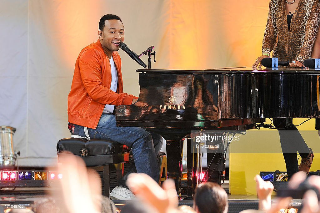 John Legend Performs on ABC's 'Good Morning America' at Rumsey Playfield on June 21, 2013 in New York City.