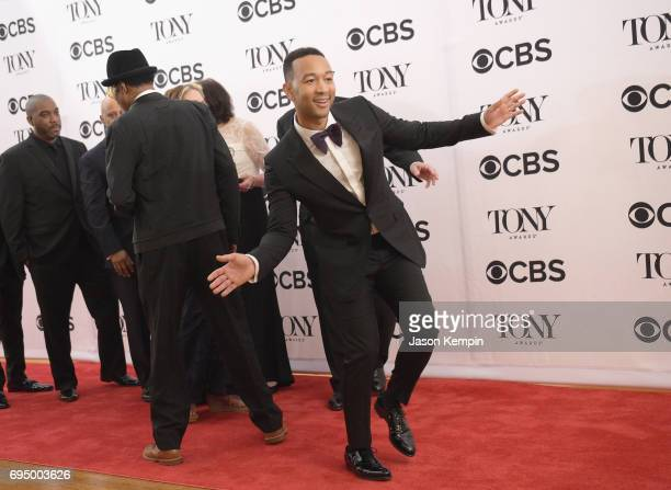 John Legend poses in the press room during the 2017 Tony Awards at 3 West Club on June 11 2017 in New York City