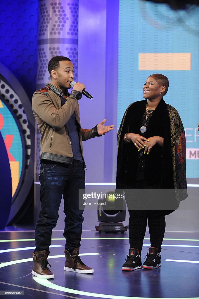 <a gi-track='captionPersonalityLinkClicked' href=/galleries/search?phrase=John+Legend&family=editorial&specificpeople=201468 ng-click='$event.stopPropagation()'>John Legend</a> visits BET's '106 & Park' at BET Studios on April 17, 2013 in New York City.