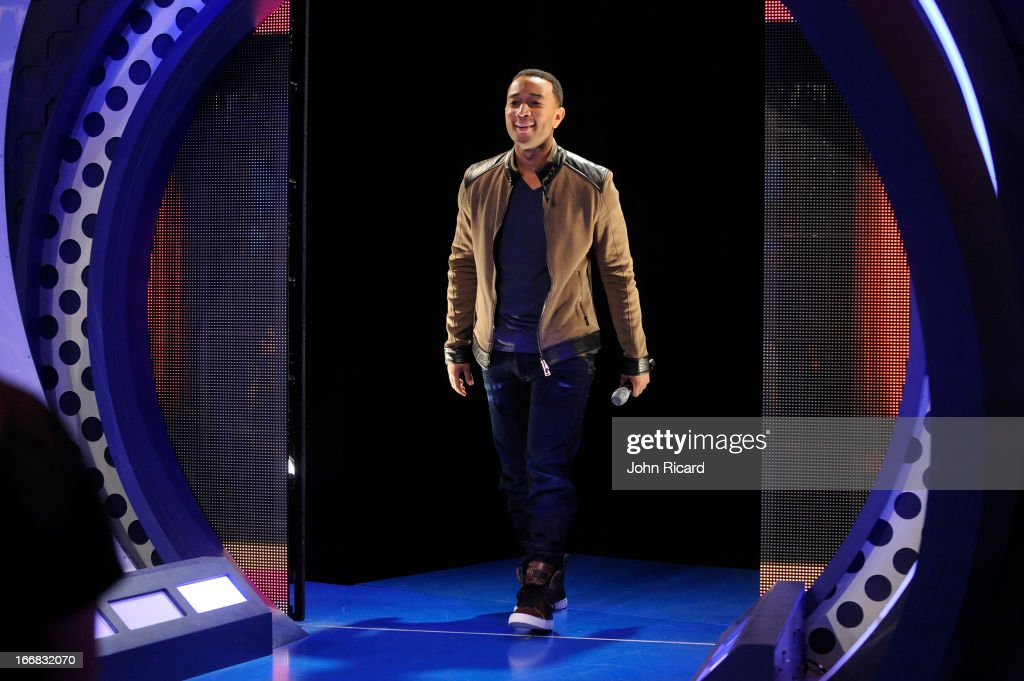 John Legend visits BET's '106 & Park' at BET Studios on April 17, 2013 in New York City.
