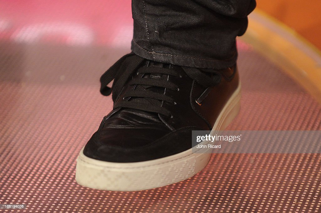 <a gi-track='captionPersonalityLinkClicked' href=/galleries/search?phrase=John+Legend&family=editorial&specificpeople=201468 ng-click='$event.stopPropagation()'>John Legend</a> (shoe detail) visits BET's '106 & Park' at BET Studios on May 6, 2013 in New York City.