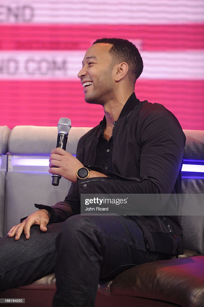 John Legend visits BET's '106 & Park' at BET Studios on May 6, 2013 in New York City.