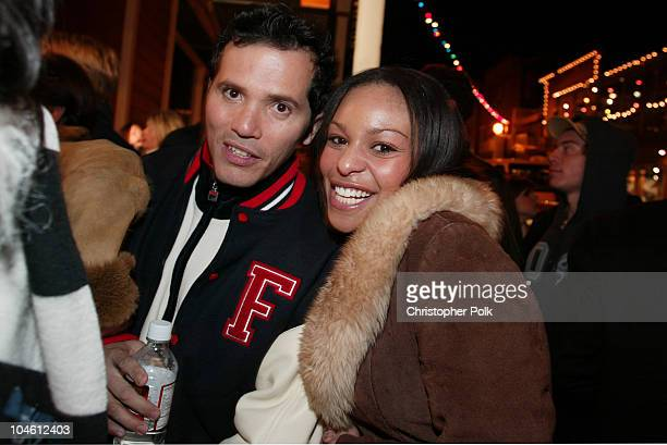 John Leguizamo and Nicole Brown during Spun Party at The Chrysler Lounge in Sundance UT United States