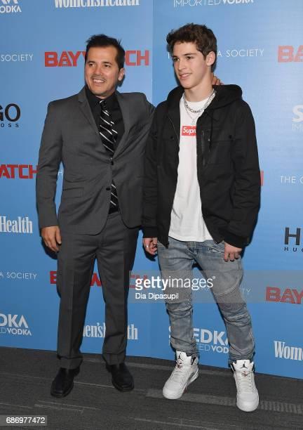 John Leguizamo and son Lucas Leguizamo attend The Cinema Society's Screening Of 'Baywatch' at Landmark Sunshine Cinema on May 22 2017 in New York City