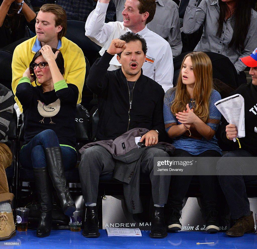 John Leguizamo attends the Milwaukee Bucks vs New York Knicks game at Madison Square Garden on February 1, 2013 in New York City.