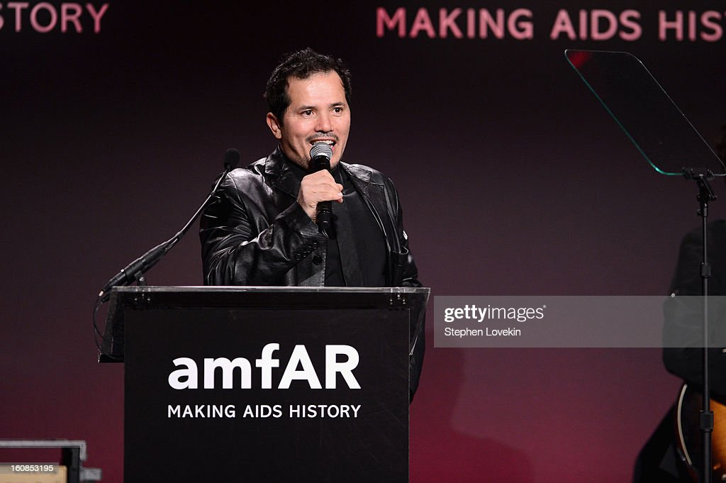 <a gi-track='captionPersonalityLinkClicked' href=/galleries/search?phrase=John+Leguizamo&family=editorial&specificpeople=167163 ng-click='$event.stopPropagation()'>John Leguizamo</a> speaks onstage at the amfAR New York Gala to kick off Fall 2013 Fashion Week at Cipriani Wall Street on February 6, 2013 in New York City.