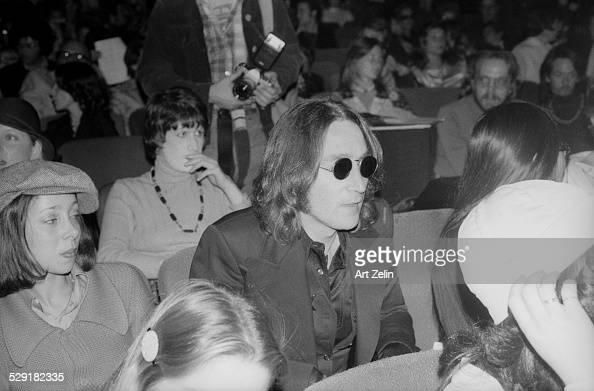 John Lennon and May Pang Beacon Theater circa 1970 New York