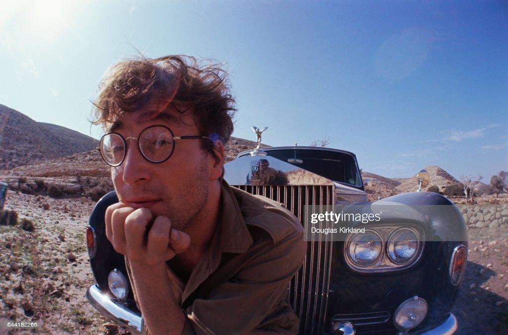 John Lennon and Rolls-Royce in Desert