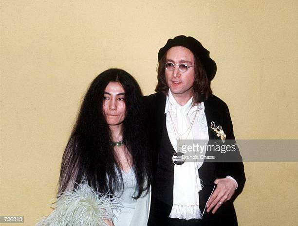 John Lennon and Yoko Ono in an undated photo taken in New York NY in the 1970's