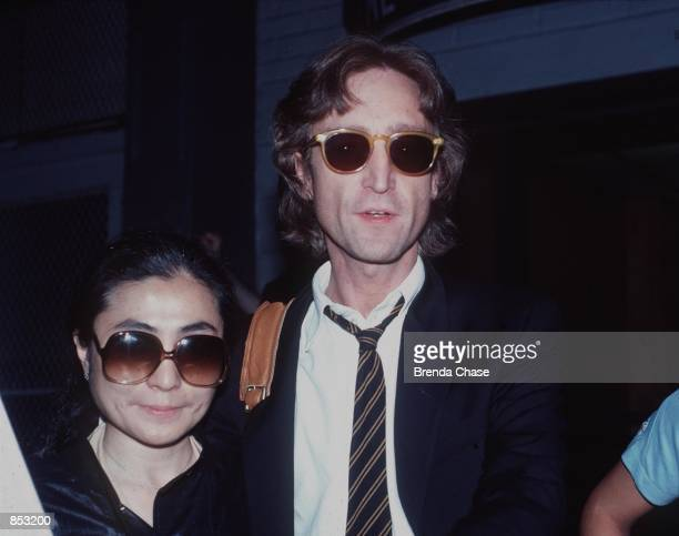 John Lennon and Yoko Ono in New York NY in 1980