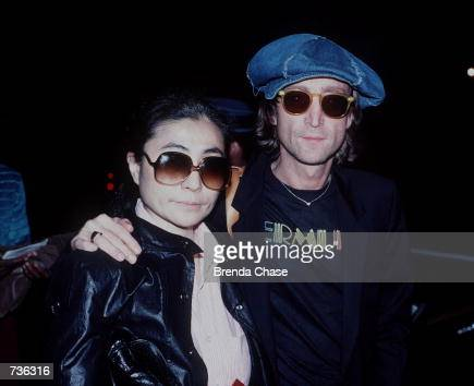 John Lennon and Yoko Ono shortly before Lennon was shot and killed in New York NY in December 1980