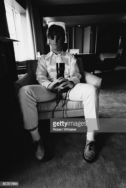 John Lennon at the Tokyo Hilton during the Japanese leg of the Beatles' final world tour 30th June 2nd July 1966