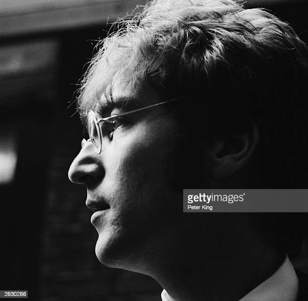 John Lennon singer songwriter and guitarist with pop group The Beatles 26th June 1967