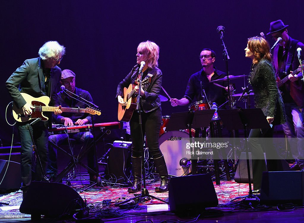 John Leventhal and Lucinda Williams join Rosanne Cash 'The River And The Thread' During Her First Artist-in-Residence Show at The Country Music Hall of Fame and Museum on September 2, 2015 in Nashville, Tennessee.
